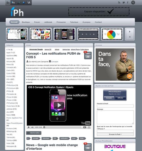 iph News   iPhone3GSystem fait peau neuve avec un nouveau design !