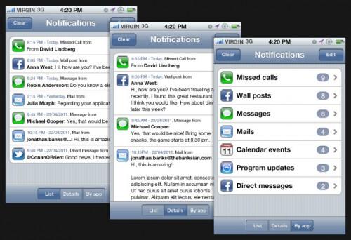 notifications app3 500x342 News   Un nouveau concept des notifications push sous iOS 5