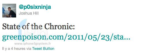 p0sixninja tweet Jailbreak News   La Chronic Dev Team fait le point ...