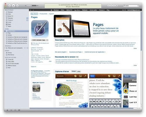 pagesiphone 500x401 News   La suite iWork est disponible sur iPhone