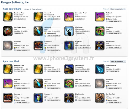 pangea AppStore   Toutes les applications de léditeur Pangea Software à 0,79€