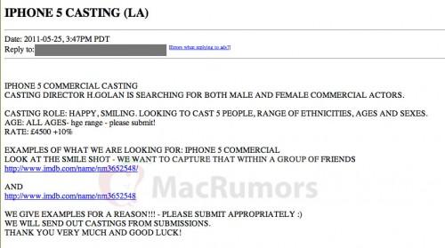 Rumeurs   Le début des campagnes de publicité pour iPhone 5 ?