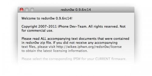 redsnowrc14jb 500x250 Jailbreak News   La faille de i0n1c na pas été comblée dans liOS 4.3.3