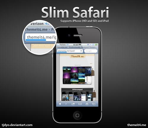 slimsafari Cydia   Safari Mobile : Personnaliser la barre de chargement avec Slim Safari