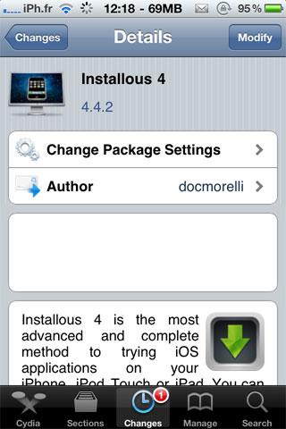 stallous442 Cydia   Installous passe en version 4.4.2
