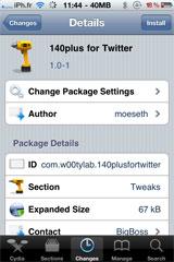 twitter1 Cydia   140plus for Twitter : Adieu la limite des 140 caractères sur twitter