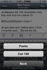 twitter4 Cydia   140plus for Twitter : Adieu la limite des 140 caractères sur twitter