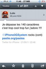 twitter6 Cydia   140plus for Twitter : Adieu la limite des 140 caractères sur twitter