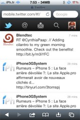 twittermobile 160x240 News   Twitter Mobile se met à jour
