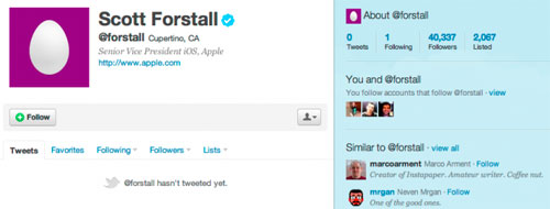 11 News   Scott Forstall Senior Vice Président iOS se met à Twitter ?