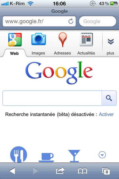 2google mobile News   Changement graphique et fonctionnel pour Google