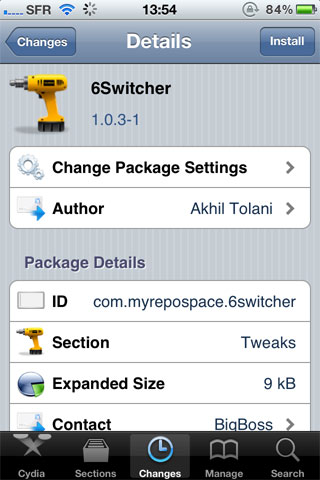 6switcher Cydia   6Switcher affiche six icônes dans le dock multitâche