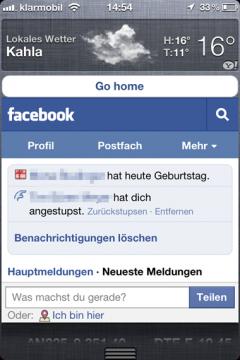 Facebook Widget For iOS 5 240x3603 Cydia   WeeFacebook : Widget Facebook pour le Notification Center de liOS 5