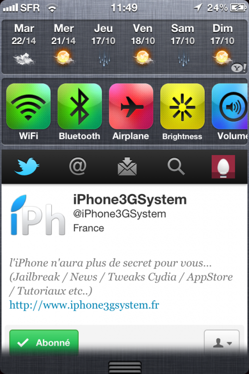 IMG 0646 500x750 Cydia   WeeTwitter : intégrer Twitter dans le NotificationCenter