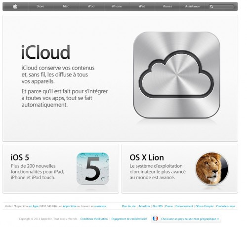 applesite 500x460 News   Le site officiel dApple a été mis à jour