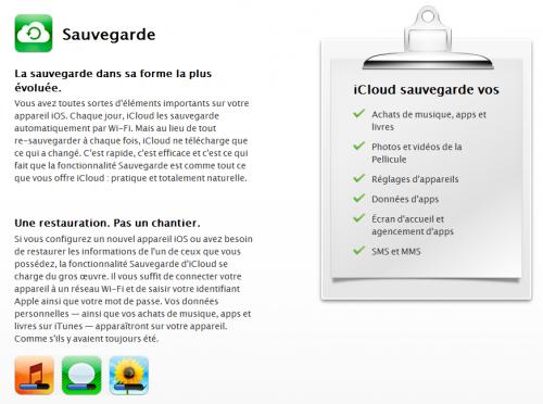 backupicloud 500x372 News iOS 5   Restaurer à partir diCloud [VIDEO]