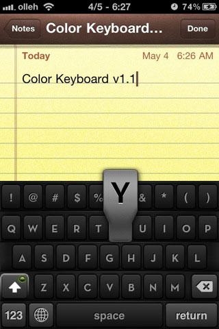colorkeyboard7 iPhRepo – Mises à jours et ajouts de debs du [01/06/2011] au [09/06/2011]