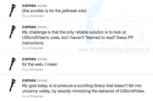 comex jailbreakme twitter Jailbreak News   JailbreakMe 3.0 : Bientôt disponible ?