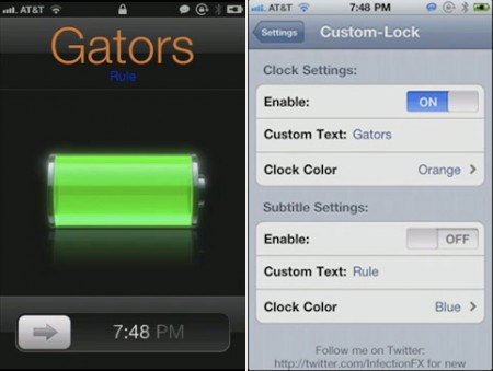 customlock Cydia   Custom Lock personnalise lheure et la date du Lockscreen