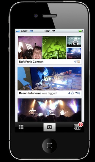 facebook Brève   Facebook : Une application de partage de photos ?