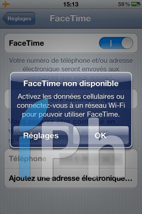 facetimeen3G1 500x750 News   FaceTime en 3G sur iOS 5