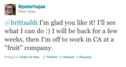 hajas News   Peter Hajas chez Apple pour les notifications ?