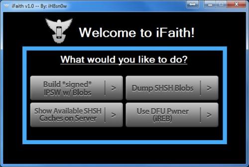 ifaith 500x336 News   iFaith : un logiciel très complet de sauvegarde SHSH pour Windows