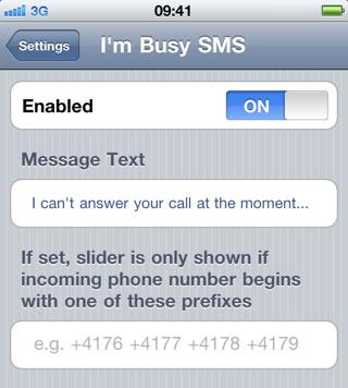 imbusysms2 Cydia   Im Busy SMS : Envoyez un message occupé en toute simplicité