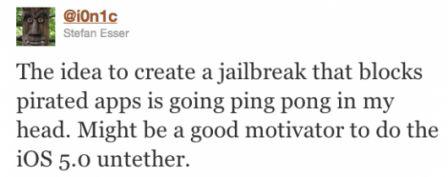 jailbreak ion1c concept News   Le jailbreak de liOS 5 bloquerait le piratage dapplication ?