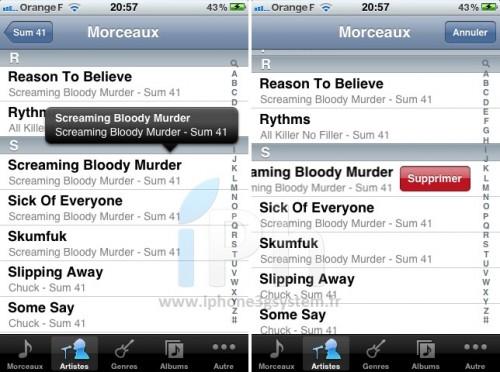 musique 500x372 News iOS 5   Du nouveau dans Musique