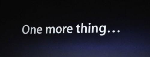 onemorething1 500x192 News   Le One More Thing de la keynote de la WWDC 2011
