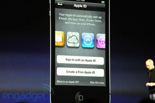 phpBO0pcDwwdcappleid 500x332 News   Résumé de la KeyNote : iOS 5 et iCloud