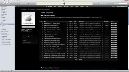 podcast 500x281 Brève   La Keynote disponible en Podcast sur iTunes