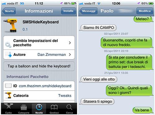 smshidekeymodif Cydia   SMSHideKeyboard cache le clavier dans les SMS
