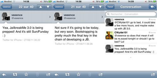 tweetsveeence1 Jailbreak News   Jailbreakme 3.0 arrive très bientôt [EDIT]