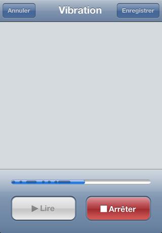 vibre News iOS 5   Personnalisez les vibrations
