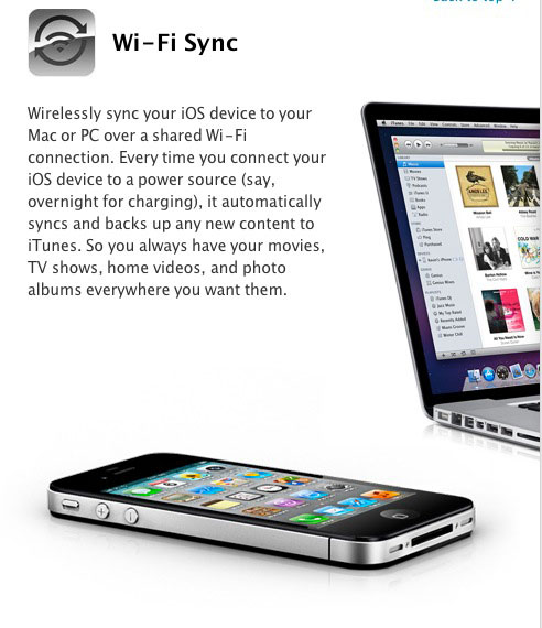 wireless1 News   iOS 5.0 apporte la synchronisation iTunes en Wi Fi