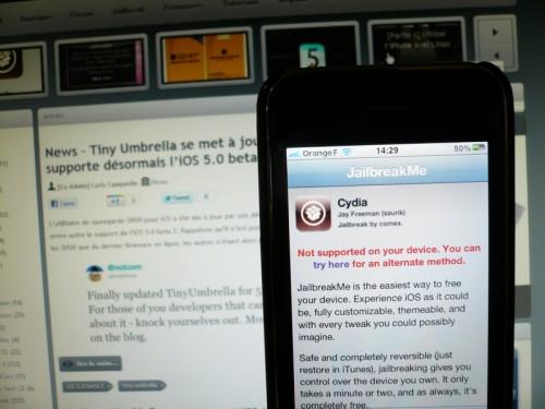 P1030054 500x375 Jailbreak News   Il est recommandé dinstaller PDF Patcher 2 après le jailbreak via JailbreakMe 3.0