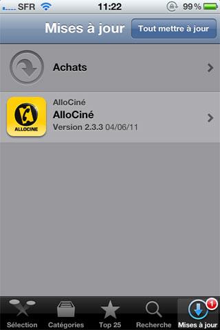 allociné AppStore   Lapplication AlloCiné passe en version 2.3.3