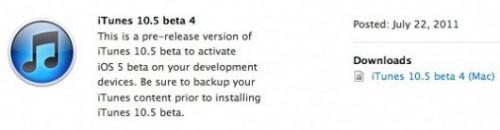 beta4itunes 500x130 News   LiOS 5.0 beta 4 est disponible au téléchargement [EDIT : les nouveautés x 16 et les bugs x 1]