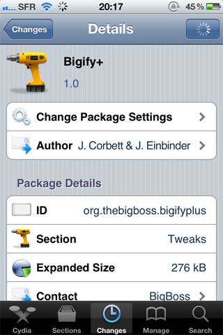 bigify+ Cydia   Bigify+ pousse la personnalisation du springboard encore plus loin