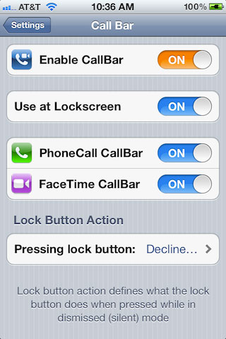 callbar3 Cydia   Elias Limneos donne des nouvelles du tweak CallBar