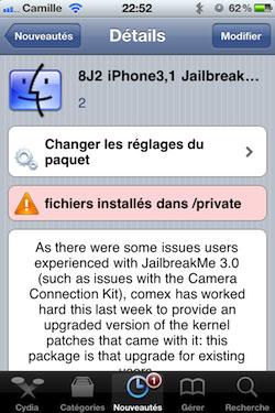 correctif Jailbreak News   Le correctif pour JailbreakMe 3.0 est enfin disponible