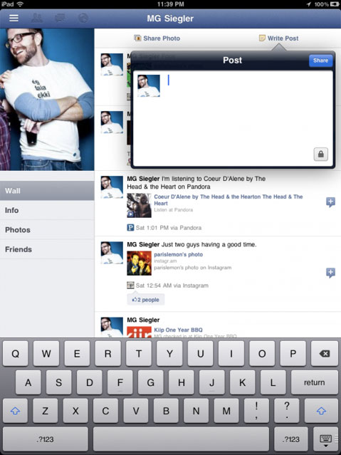 fbipad Cydia   FaceForward réactive la version iPad de facebook