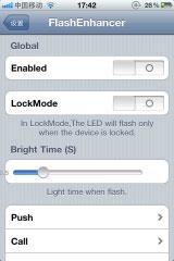 fen1 Cydia   FlashEnhancer : Faites jouer le flash de votre iPhone 4 lors de la réception dun message