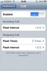 fen2 Cydia   FlashEnhancer : Faites jouer le flash de votre iPhone 4 lors de la réception dun message