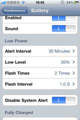 fen3 Cydia   FlashEnhancer : Faites jouer le flash de votre iPhone 4 lors de la réception dun message