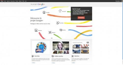 googleplus1 500x263 News   Le service Google+ ouvre ses portes