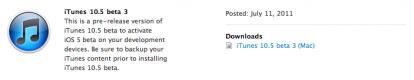 itunes10.5beta2 Info   iTunes 10.5 beta 3 est disponible au téléchargement pour les développeurs