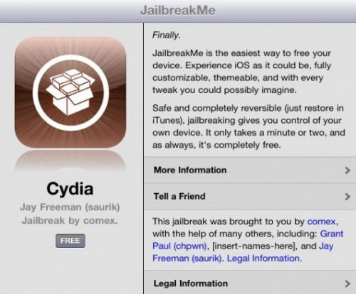 jbme 500x414 Jailbreak News – Jailbreak iPad 2 avec jailbreakMe 3.0 beta [Video]